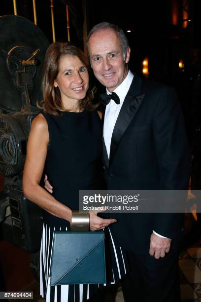 CEO of Conde Nast France Xavier Romatet and his wife Nathalie attend the GQ Men of the Year Awards 2017 at Le Trianon on November 15 2017 in Paris...