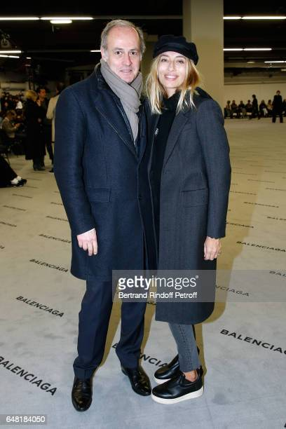 CEO of Condenast France Xavier Romatet and Alexandra Golovanoff attend the Balenciaga show as part of the Paris Fashion Week Womenswear Fall/Winter...