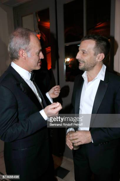 CEO of Condenast France Xavier Romatet and Awarded as Actor of the year Mathieu Kassovitz attend the GQ Men of the Year Awards 2017 at Le Trianon on...