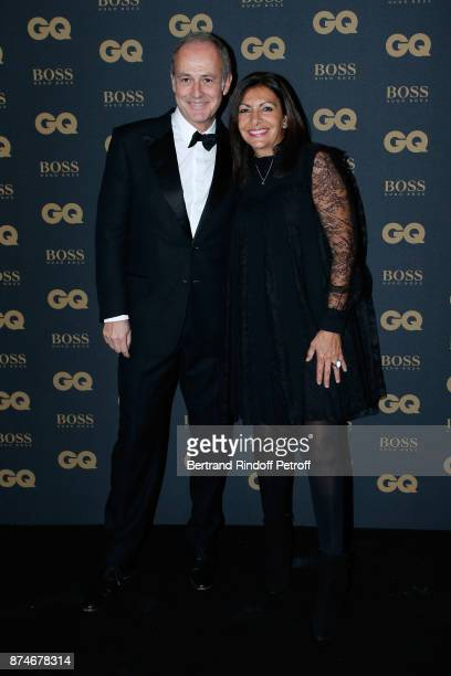 CEO of Condenast France Xavier Romatet and Awarded as Political Womman of the year Mayor of Paris Anne Hidalgo attend the GQ Men of the Year Awards...