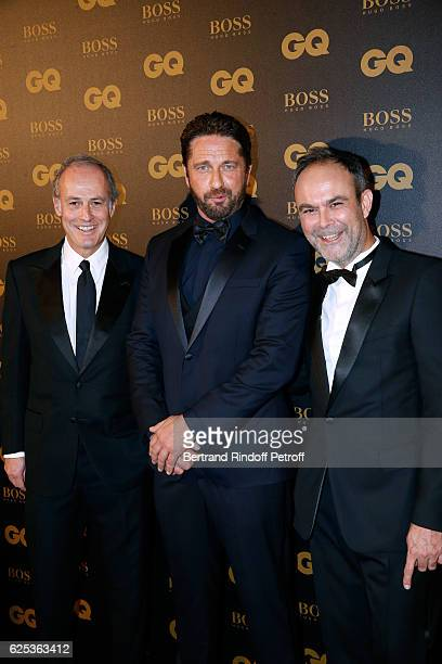 CEO of Condenast France Xavier Romatet Awarded as International Star actor Gerard Butler and Editor in Chief of GQ Magazine Emmanuel Poncet attend...