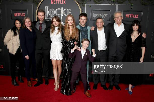 VP of Content Acquisition at Netflix Bela Bajaria VP of Original Series at Netflix Cindy Holland Bill Heck Emilia Jones Darby Stanchfield Connor...