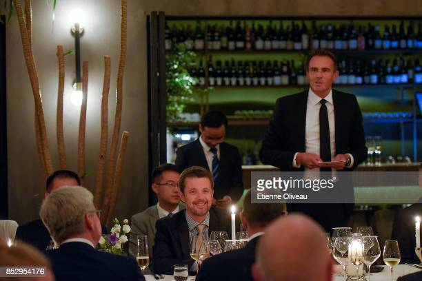 Of Copenhagen Municipality, Peter Stensgaard M¿rch holds a welcome speech to The Crown Prince Frederik of Denmark , during a dinner hosted by the...