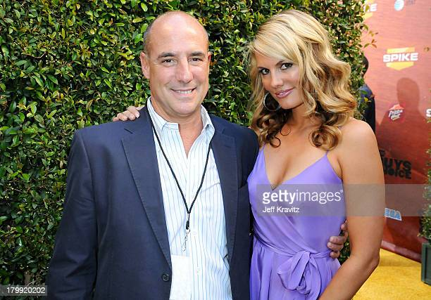 EVP of Corporate Communications at MTV Networks Entertainment Group Tony Fox and actress Courtney Hansen arrive to Spike TV's 2nd Annual Guys Choice...