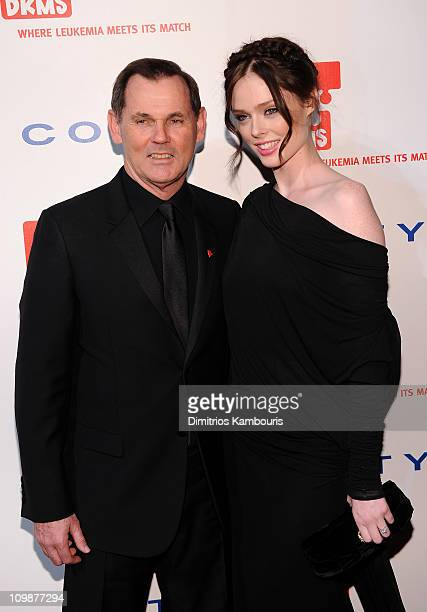 CEO of Coty Inc Bernd Beetz and model Coco Rocha attend DKMS' 4th Annual Gala Linked Against Leukemia at Cipriani 42nd Street on April 29 2010 in New...