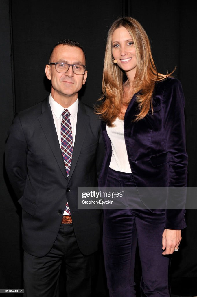 CEO of Council of Fashion Designers of America Steven Kolb and President & CEO of SWW Creative and Co-Founder, Decoded Fashion Stephanie Winston Wolkoff attend The Decoded Fashion Forum & Hackathon Finale Fall 2013 fashion show during Mercedes-Benz Fashion Week at The Stage at Lincoln Center on February 14, 2013 in New York City.