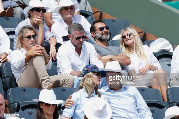 CEO of Courreges Jacques Bungert actor Gilles Lellouche and his wife attend the Men Final of the 2017 French Tennis Open Day Fithteen at Roland...