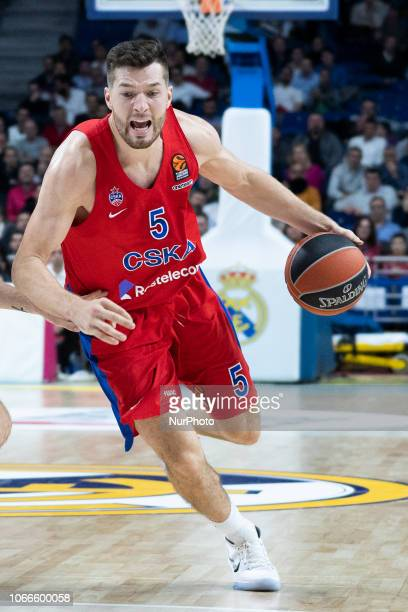 PETERS ALEC of CSKA Moscow during Turkish Airlines Euroleague week 10 basketball match between Real Madrid and CSKA Moscow at Wizink Center in Madrid...