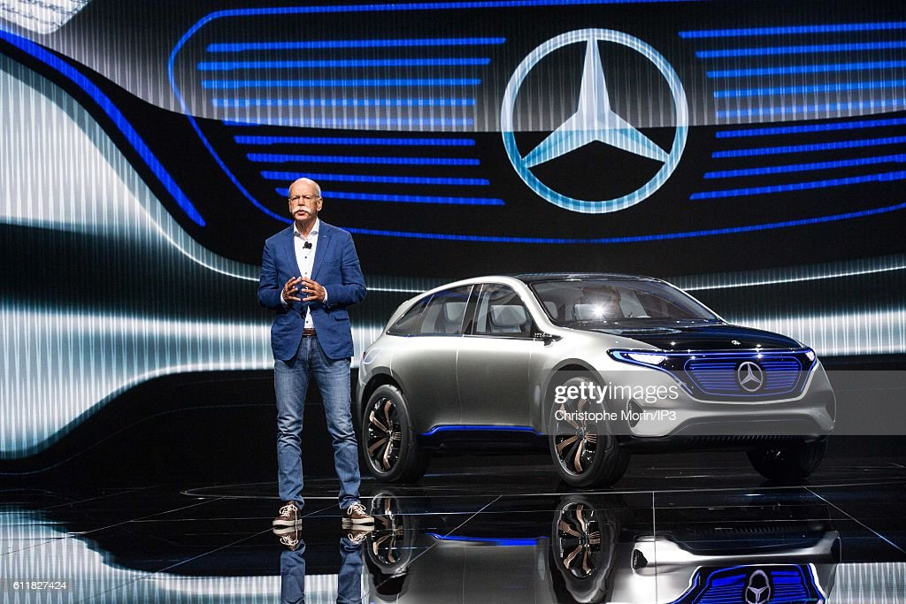 CEO of Daimler and Head of Mercedes Benz Dieter Zetsche delivers a speech during the press preview of the Paris Motor Show at Paris Expo Porte de Versailles on September 29, 2016 in Paris, France. From 1 to 16 October 2016, the 'Mondial de l'automobile' presents to the public the new cars of the largest automobile brands in the world.