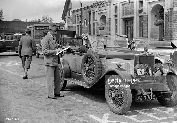 MG 14/40 of DC Collins taking part in the North West London Motor Club Trial 1 June 1929 MG 14/40 1928 1802 cc Vehicle Reg No PK2709 Event Entry No 5...