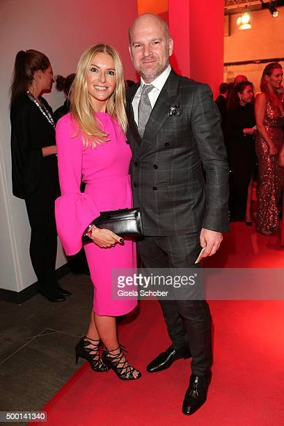 CEO of Depot Christian Gries and his wife Sandra Gries attend the Ein Herz Fuer Kinder Gala 2015 reception at Tempelhof Airport on December 5 2015 in...