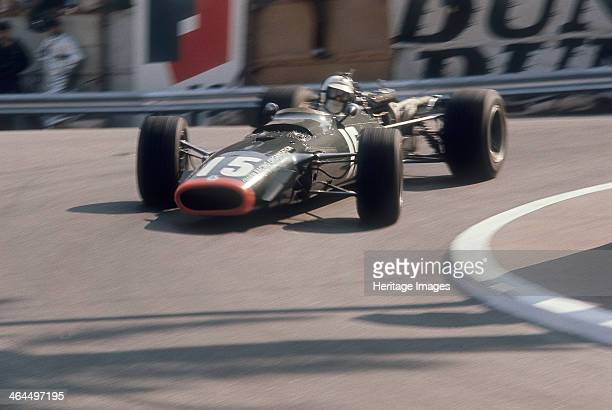 BRM of Dickie Attwood entering a corner Monaco Grand Prix 1968 Attwood finished second in the race behind Graham Hill thereby achieving his bestever...
