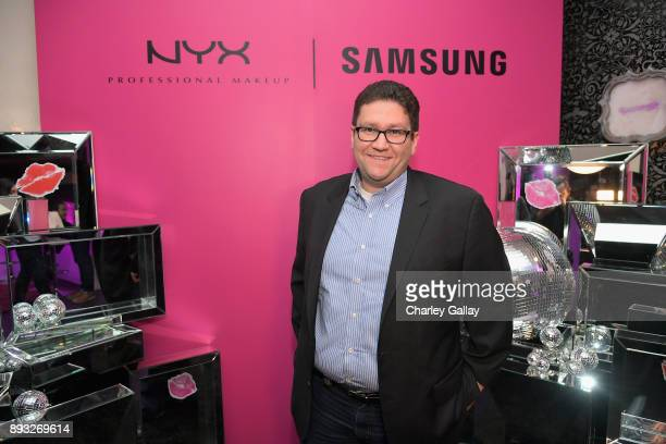 NYX VP of Digital Mehdi Mehdi at the NYX Professional Makeup and Samsung VR Launch Party at Beauty Essex on December 14 2017 in Los Angeles California