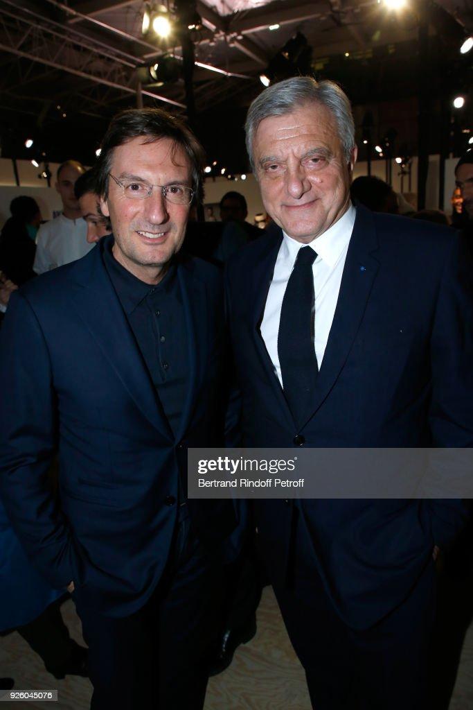 CEO of Dior Pietro Beccari and former CEO of Dior Sidney Toledano