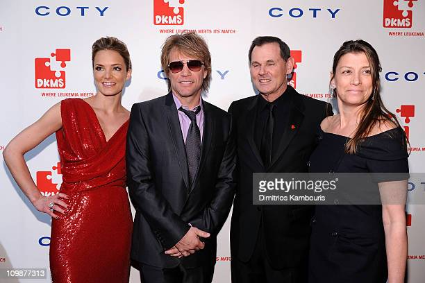 EVP of DKMS Americas Katharina Harf musician Jon Bon Jovi CEO of Coty Inc Bernd Beetz and Dorothea Hurley attend DKMS' 4th Annual Gala Linked Against...