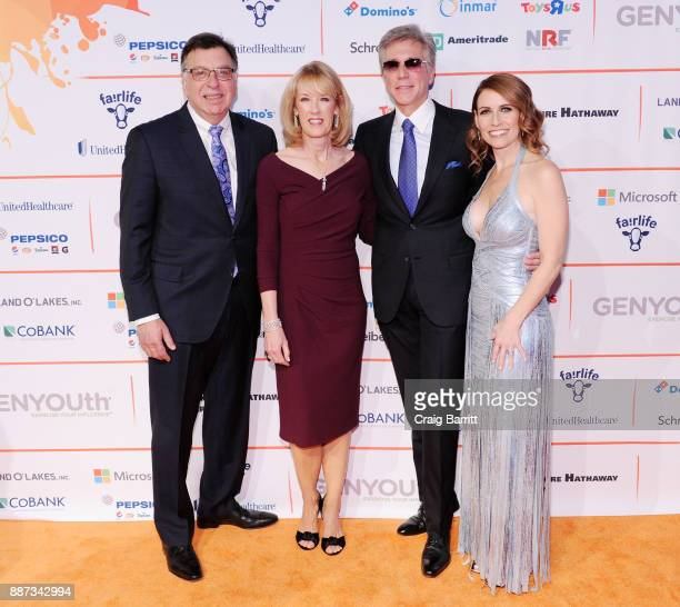 CEO of DMI Thomas Gallagher Julie McDermott CEO of SAP Bill McDermott and CEO of GENYOUth Alexis Glick attend the Second Annual GENYOUth Gala at...