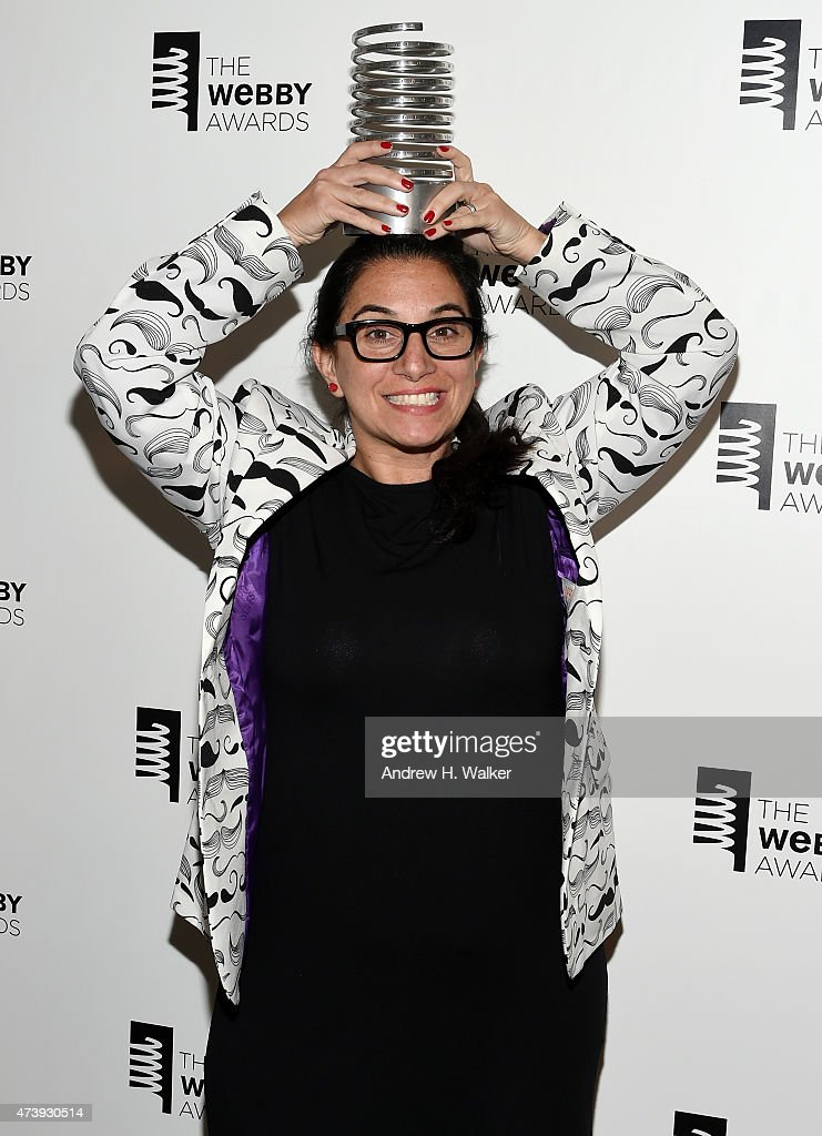 CEO of Do Something Inc. Nancy Lublin poses backstage during the 19th Annual Webby Awards on May 18, 2015 in New York City.