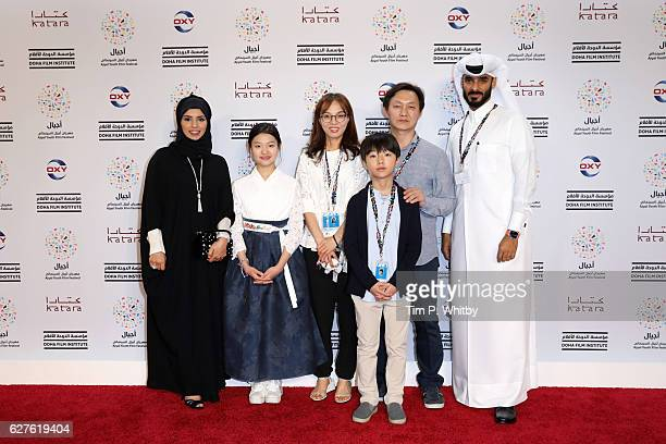 CEO of Doha Film Institute Fatma Al Remaihi Sooin Choi Youngmi Kim Junwoo Choi Jong Sun Choi and Chief Administrative Officer of Doha Film Institute...