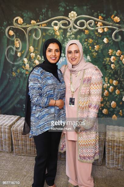 CEO of Doha Film Institute Fatma Al Remaihi with Qatari filmmaker Aisha Al Jaidah at the Doha Film Institute reception to celebrate the films...