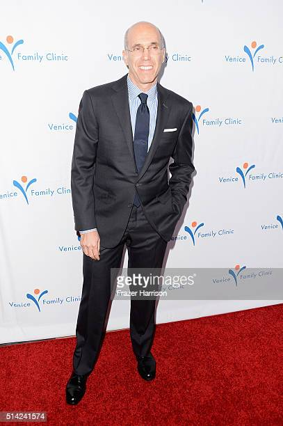 CEO of DreamWorks Animation and producer Jeffrey Katzenberg attends the Venice Family Clinic Silver Circle Gala 2016 honoring Brett Ratner and Bill...