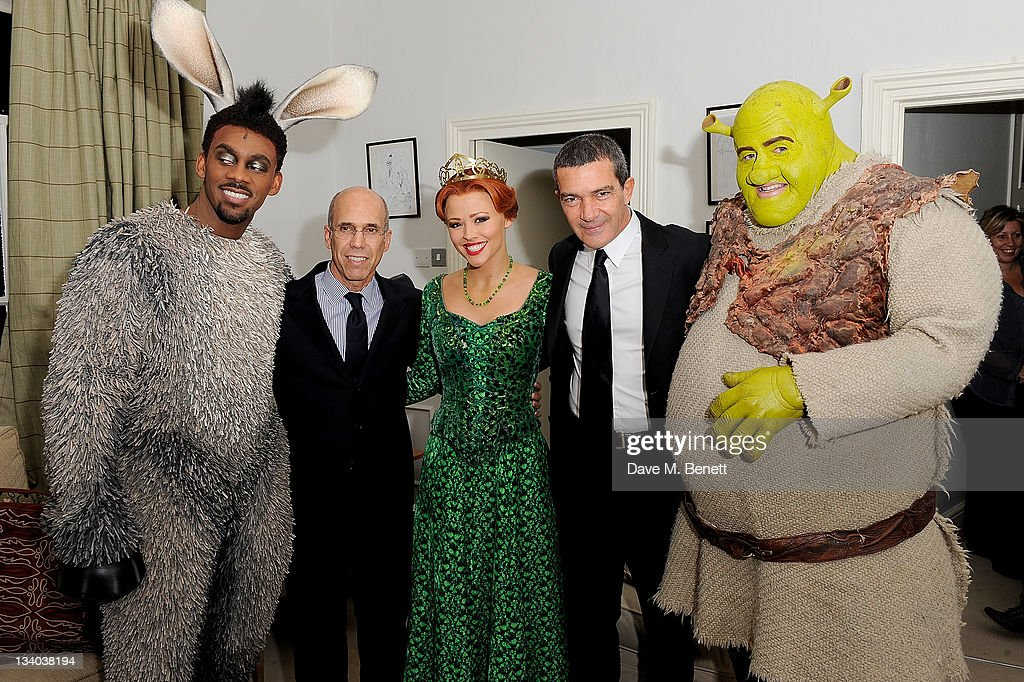 Shrek The Musical Meets Puss In Boots - Antonio Banderas Photocall