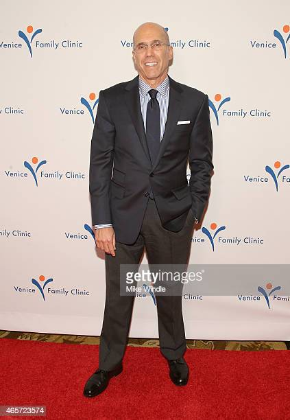 CEO of DreamWorks Animation Jeffrey Katzenberg attends the Venice Family Clinic's Silver Circle Gala at Regent Beverly Wilshire Hotel on March 9 2015...