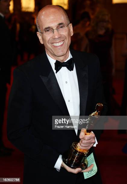 CEO of DreamWorks Animation Jeffrey Katzenberg departs the Oscars at Hollywood Highland Center on February 24 2013 in Hollywood California