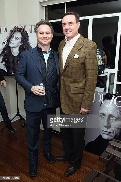 CEO of DuJour Media Jason Binn and Senior Vice President Finance at Hudson's Bay Company Colin Dougherty attend an intimate evening of friends and...