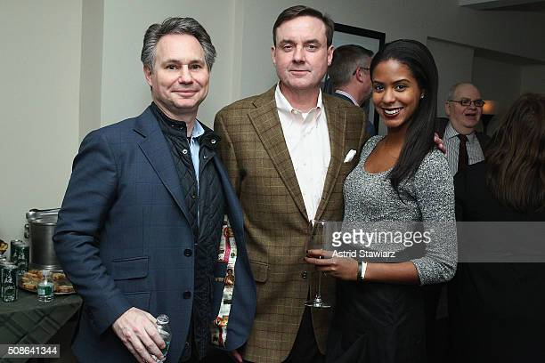CEO of DuJour Media Jason Binn Senior Vice President Finance at Hudson's Bay Company Colin Dougherty and Jasmine Pierce attend an intimate evening of...