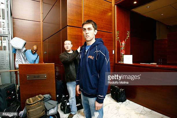 of Dynamo Moscow Milos Vujanic arriving to hotel Le Meridien in the ULEB Cup Final 8 will play at the Palavela on April 9 2008 in Turin Italy