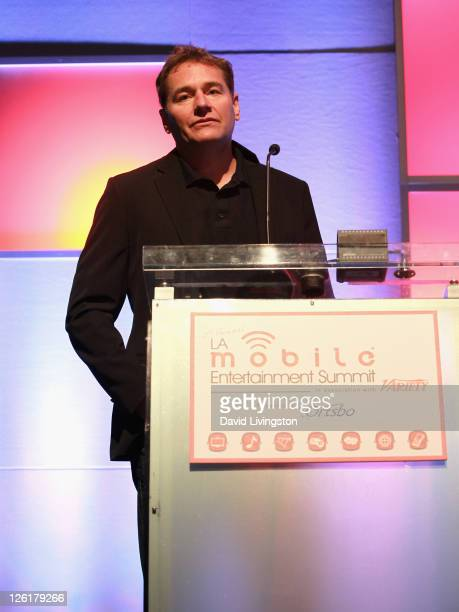 Of Electronic Arts Barry Cottle speaks onstage during day 2 of the 2011 LA Mobile Entertainment Summit in Association with Variety at Hollywood and...
