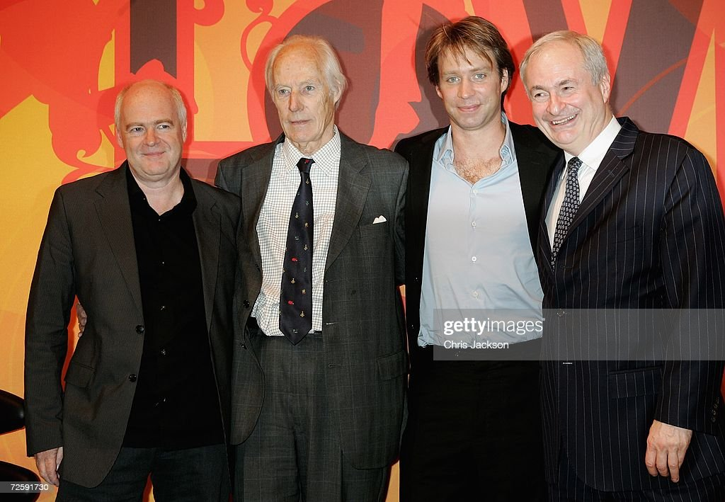 CEO of EMI Tony Wadsworth, Producer Sir George Martin and his son Giles and Paul Gambaccini are seen at the Launch of the New Beatles Album, 'Love' at Abbey Road Studios on November 17, 2006 in London, England