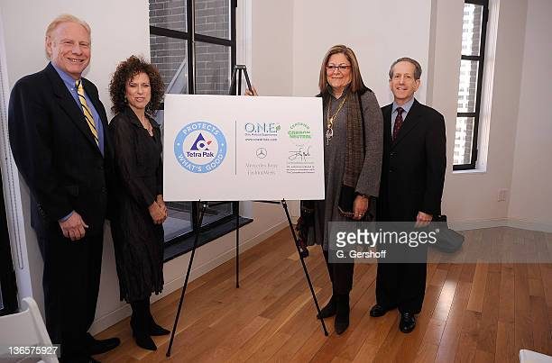 VP of Environmental Affairs Tetra Pak Ed Klein communications director ONE Natural Experience Jane Berk SVP IMG Fashion Fern Mallis and CEO The...
