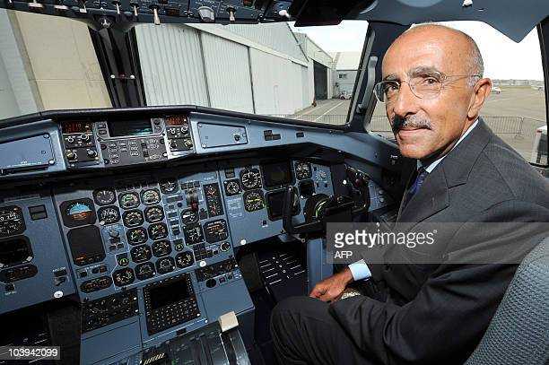 Of European ATR regional aircraft manufacturer, Filippo Bagnato poses in the cockpit of an ATR72-500 during its delivery to Brazilian aircraft...
