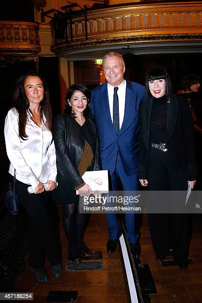 DHR of Express magazine Veronique Darasse Jeannette Bougrab Christian CourtinClarins and fashion designer Chantal Thomass attend the 17th Clarins...