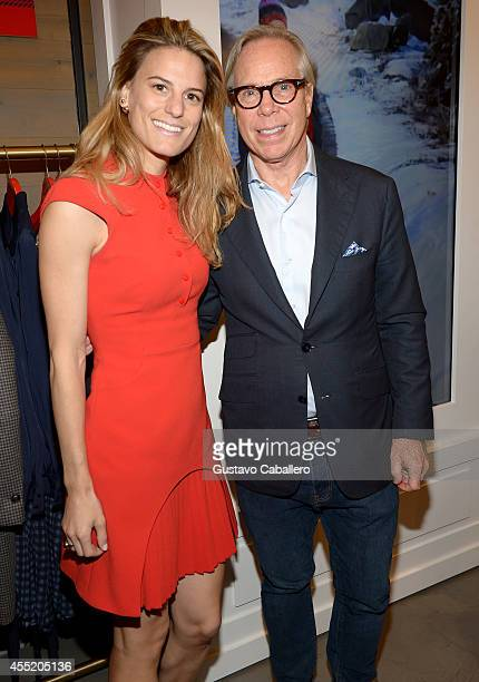 OVP of Fashion Directing of Women's ReadyToWear at Bloomingdale's Brooke Jaffe and designer Tommy Hilfiger celebrate the debut of Hilfiger Collection...