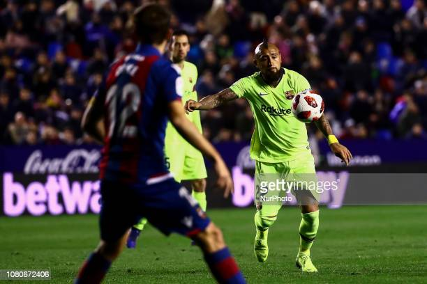 VIDAL of FC Barcelona during spanish King Cup match between Levante UD v FC Barcelona at Ciutat de Valencia Stadium on January 10 2018