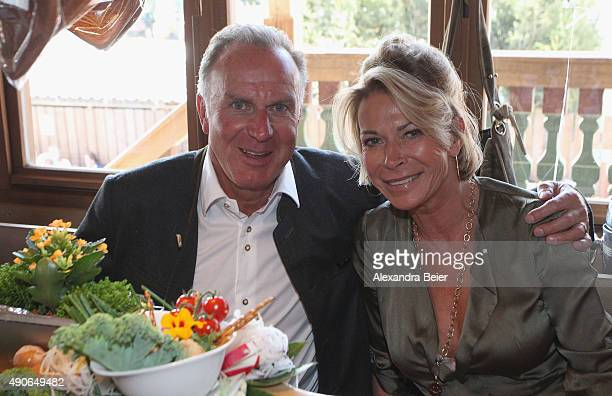CEO of FC Bayern Muenchen KarlHeinz Rummenigge and his wife Martina attend the Oktoberfest beer festival 2015 at Theresienwiese on September 30 2015...