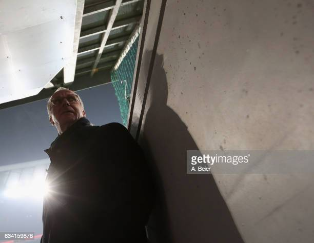 CEO of FC Bayern Muenchen KarlHeinz Rummenigge is pictured at the players' tunnel before the DFB Cup Round Of 16 match between Bayern Muenchen and...