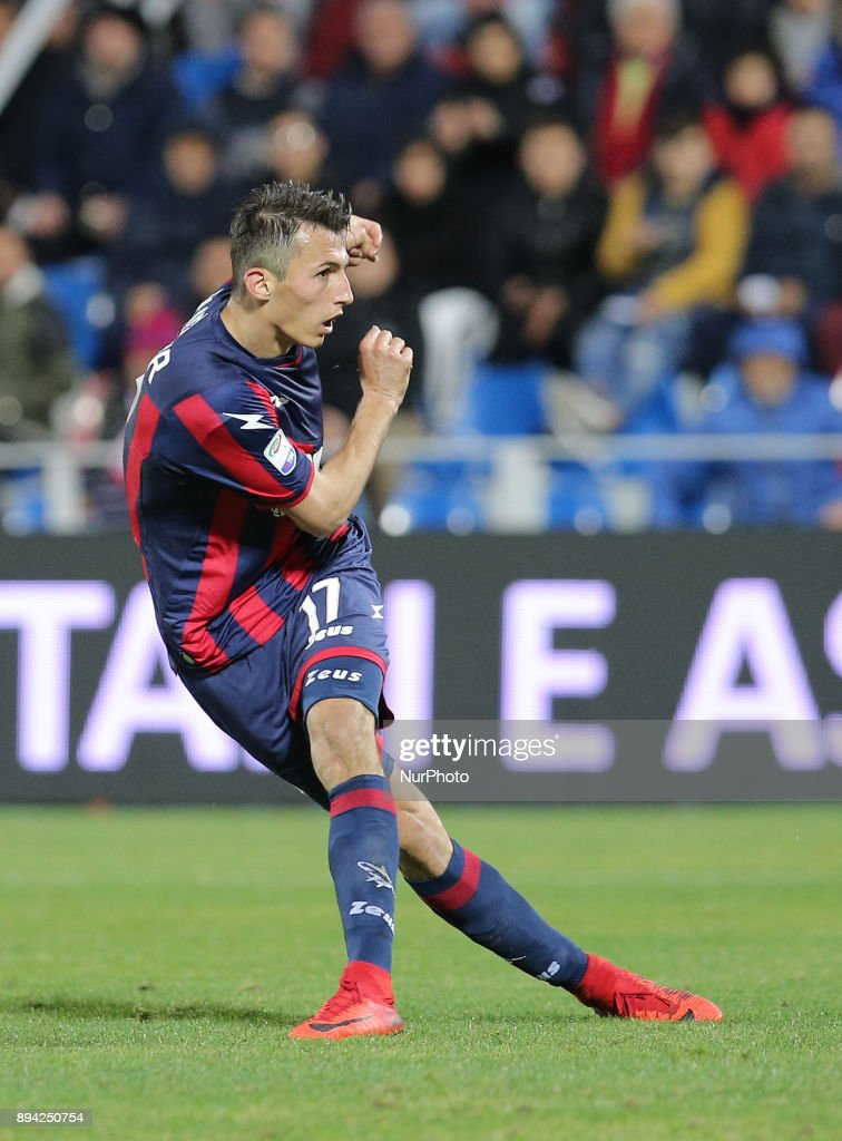 BUDIMIR of FC Crotone during the Serie A match between FC Crotone and AC Chievo Verona at Stadio Comunale Ezio Scida on December 17, 2017 in Crotone, Italy.