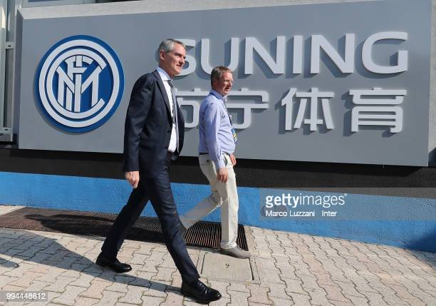 CEO of FC Internazionale Alessandro Antonello arrives at the club's training ground Suning Training Center in memory of Angelo Moratti on July 9 2018...