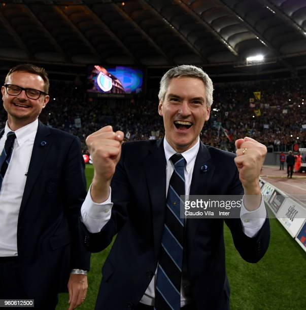 CEO of FC Internazionale Alessandro Antonello celebrate the victory and the qualification for the Champions League during the serie A match between...