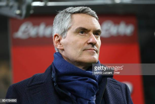 CEO of FC Internazionale Alessandro Antonello looks on before the serie A match between FC Internazionale and Benevento Calcio at Stadio Giuseppe...
