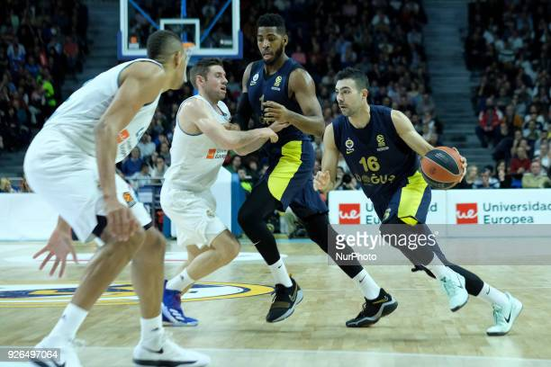 KOSTAS of Fenerbahce Dogus in action during the Turkish Airlines Euroleague basketball match between Real Madrid and Fenerbahce Dogus at the Wizink...