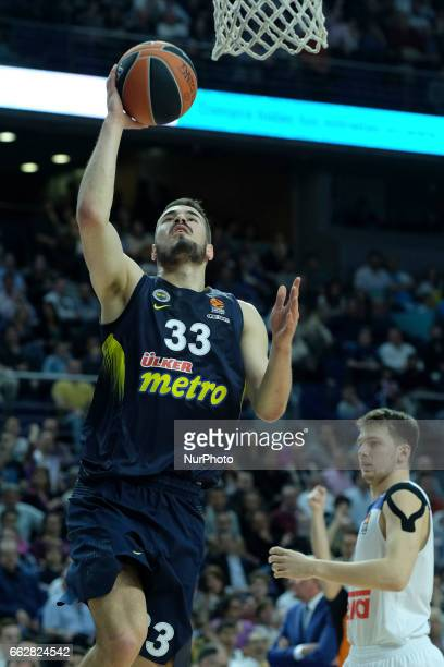 KALINIC NIKOLA of Fenerbahce Ulker Istanbul during the 2016/2017 Turkish Airlines Euroleague Regular Season Round 29 game between Real Madrid v...