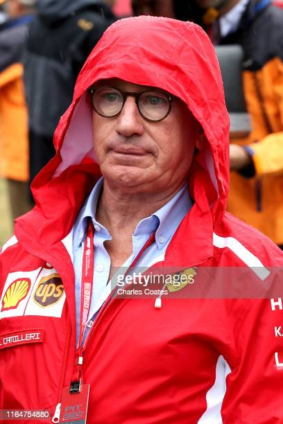 Of Ferrari Louis Camilleri looks on, on the grid before the F1 Grand Prix of Germany at Hockenheimring on July 28, 2019 in Hockenheim, Germany.