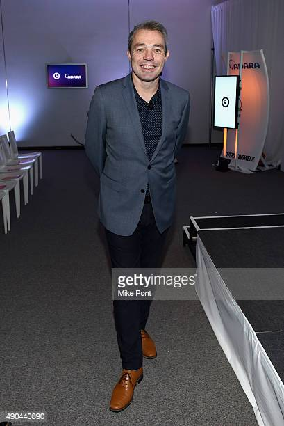 COO of Fetch Greg Grimmer poses at The Mobile CSuite panel during Advertising Week 2015 AWXII at the ADARA Stage at Times Center Hall on September 28...