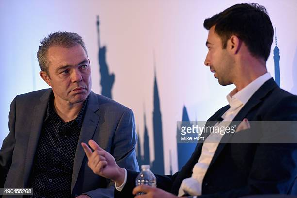 CEO of Fetch James Connelly speaks onstage at the Designing A Business For The New Consumer panel during Advertising Week 2015 AWXII at the ADARA...