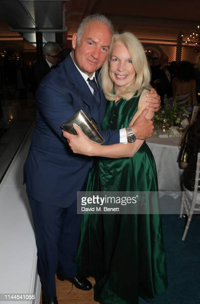 CEO of Finch Partners Charles Finch and Amanda Nevill attend the 10th Annual Filmmakers Dinner hosted by Charles Finch Edward Enninful and Michael...