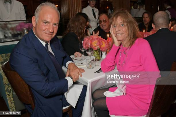 CEO of Finch Partners Charles Finch and Lady Ruth Rogers attend a private dinner hosted by Michael Kors to celebrate the new Collection Bond St...